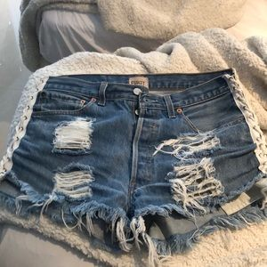 Furst of a kind lace up shorts